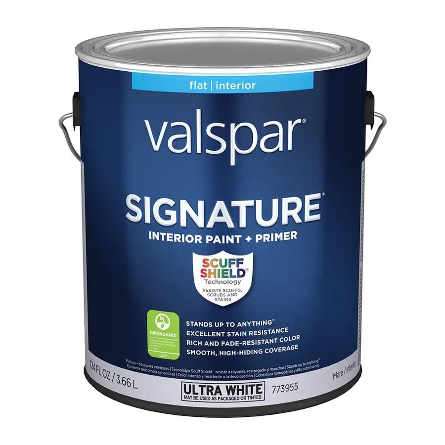shop valspar signature flat latex interior paint and on best valspar paint colors id=42749