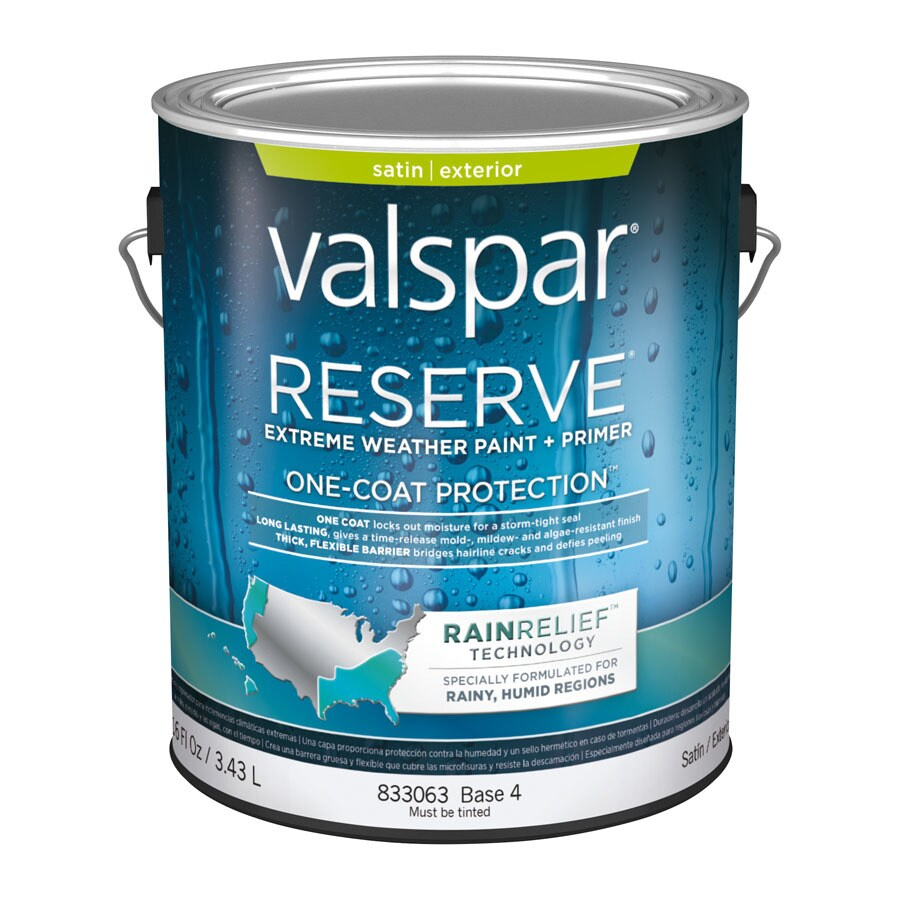 ̿̿̿(•̪ ) Valspar Reserve Rain Relief Satin Latex Exterior Paint ...
