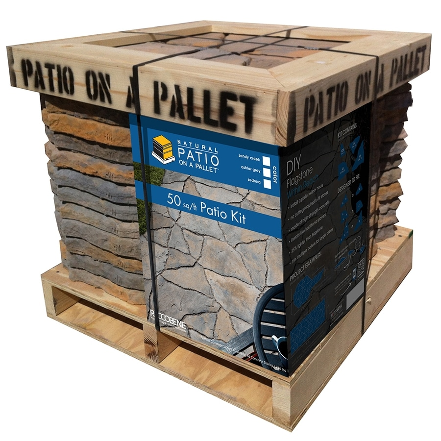 sereno natural shape 50 sq ft patio on a pallet block project kit lowes com