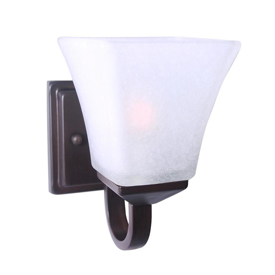 Design House Torino 6.75-in W 1-Light Brushed Bronze Wall ... on Bathroom Sconce Lights Brushed Bronze id=48321