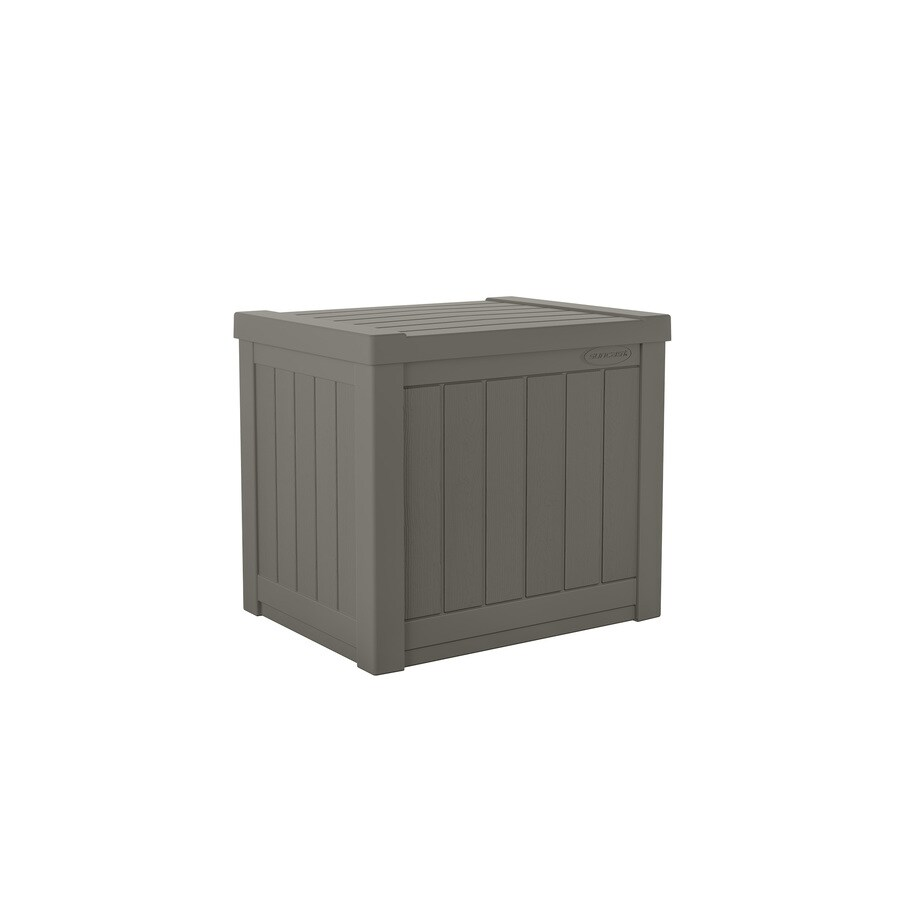 Suncast 9 44 In L X 19 313 In 22 Gallon Gray Plastic Deck Box In The Deck Boxes Department At Lowes Com