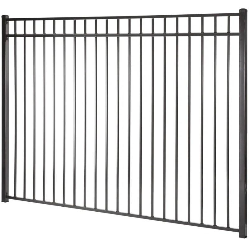 Actual 5 94 Ft X 7 97 Monroe Black Steel Decorative Fence