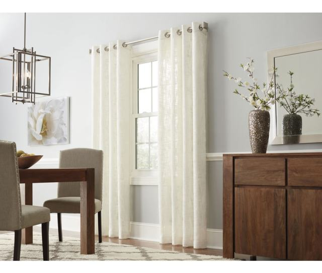 Al Roth Amesmore  In Natural Polyester Grommet Light Filtering Single Curtain Panel