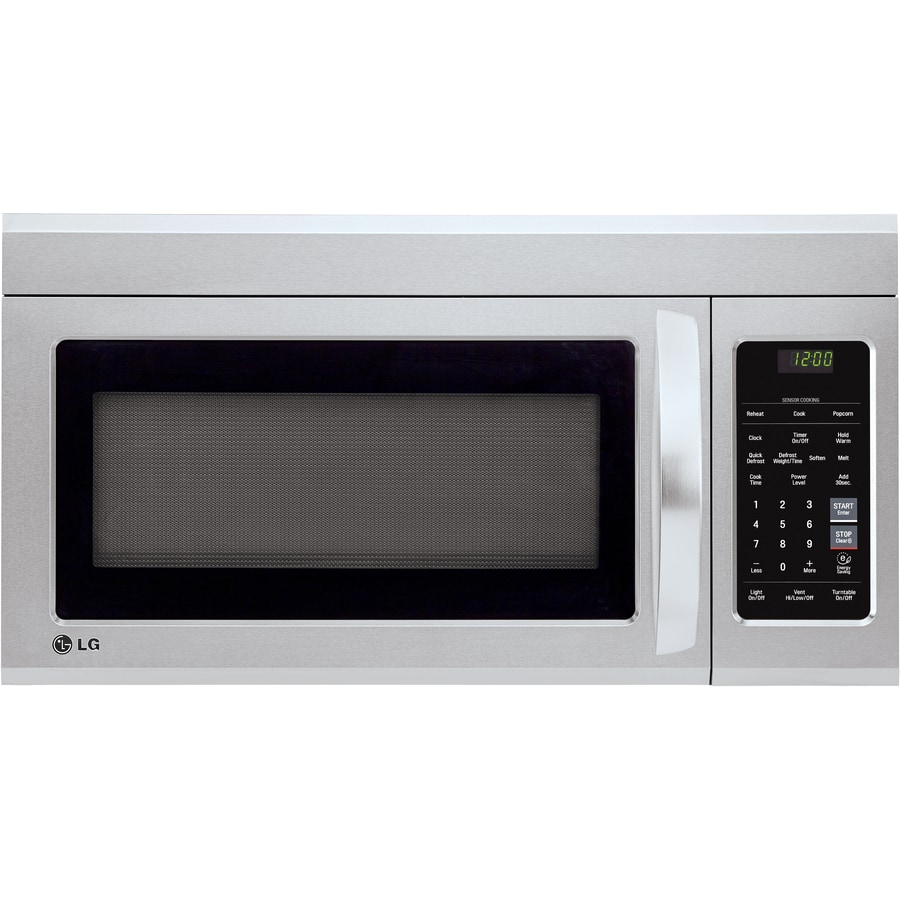 lg easyclean 1 8 cu ft over the range microwave with sensor cooking stainless steel