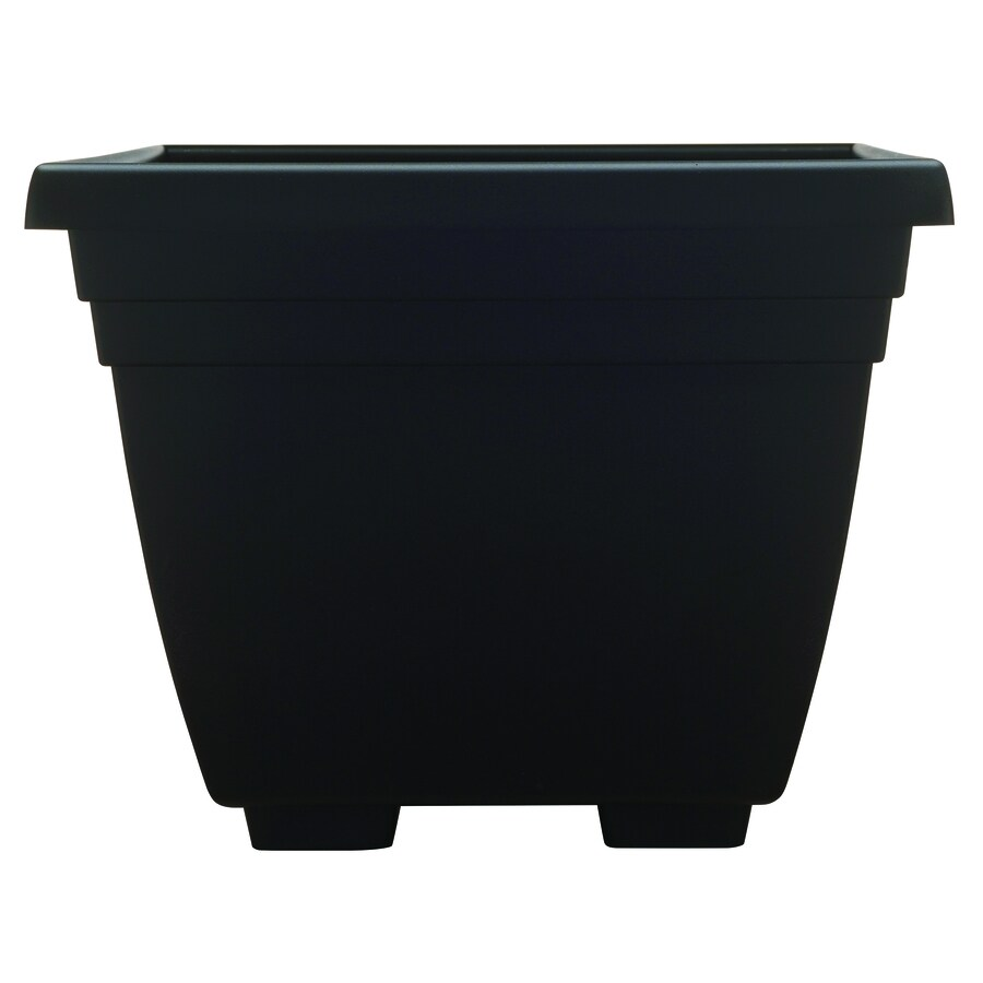 garden treasures 13 875 in w x 11 in h black plastic planter