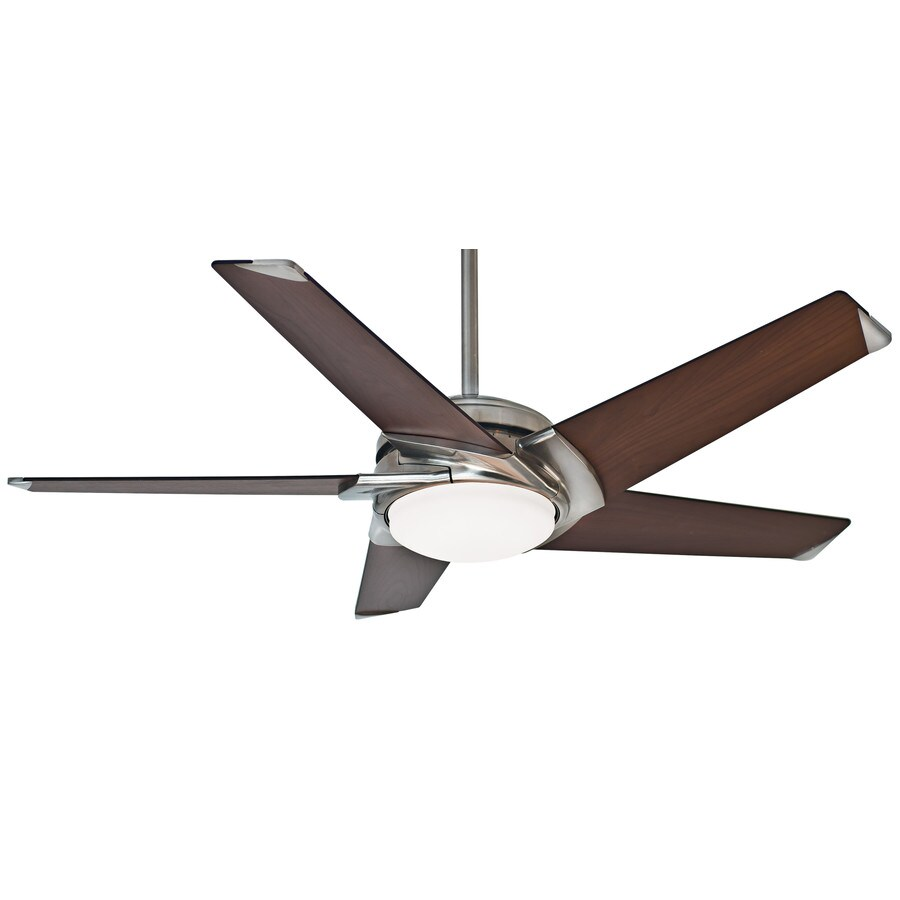 Casablanca Stealth Dc Led 54 In Brushed Nickel Indoor Ceiling Fan With Light Kit And Remote 5 Blade