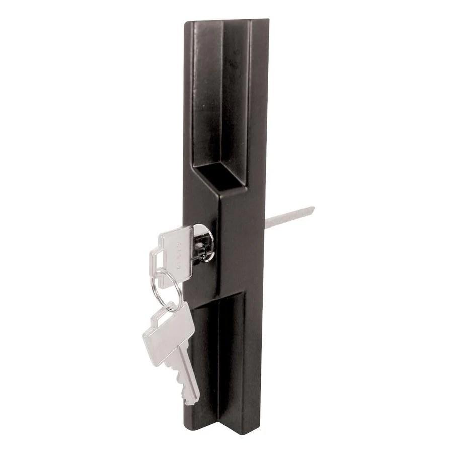 prime line universal black sliding glass door outside pull for mortise type latch