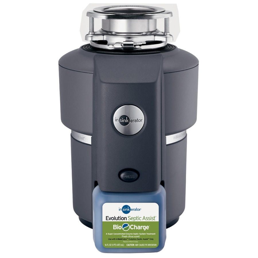 insinkerator evolution septic assist non corded 3 4 hp continuous feed noise insulation garbage disposal