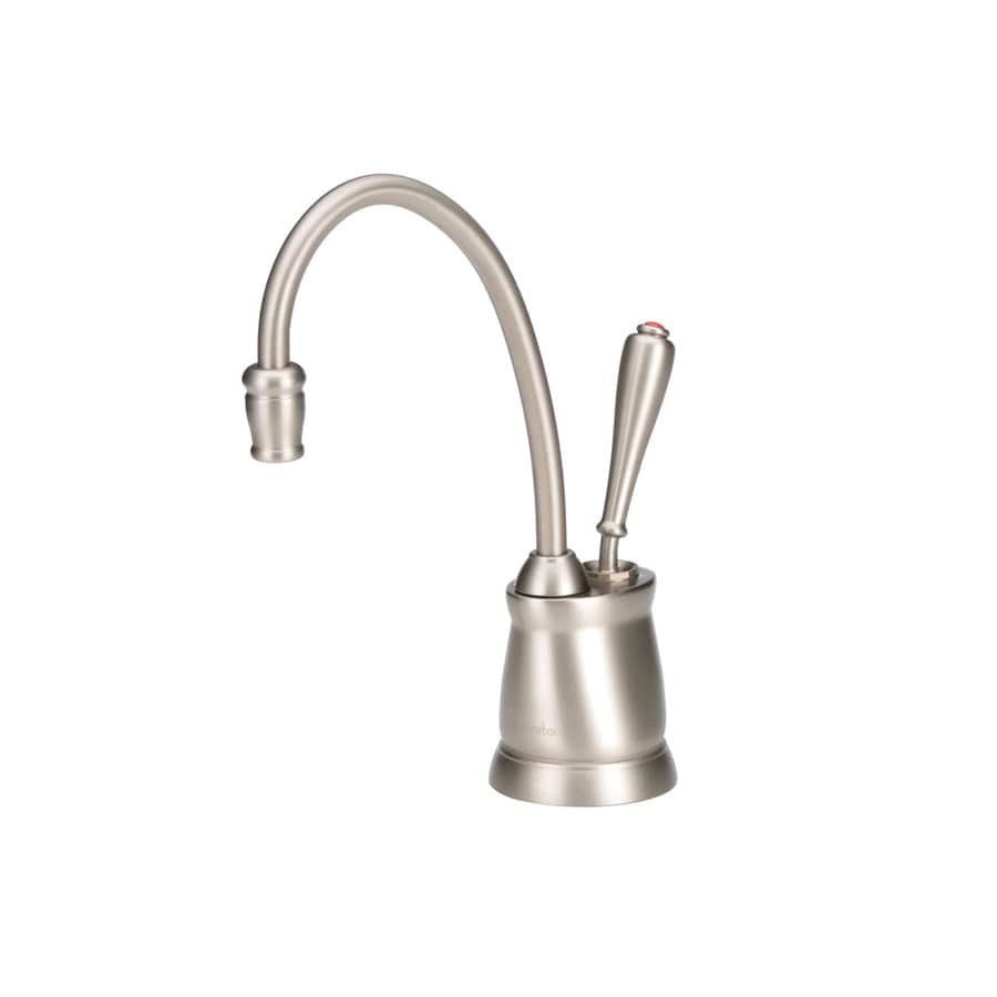 insinkerator indulge satin nickel hot water dispenser with hi arc spout in the water dispensers department at lowes com