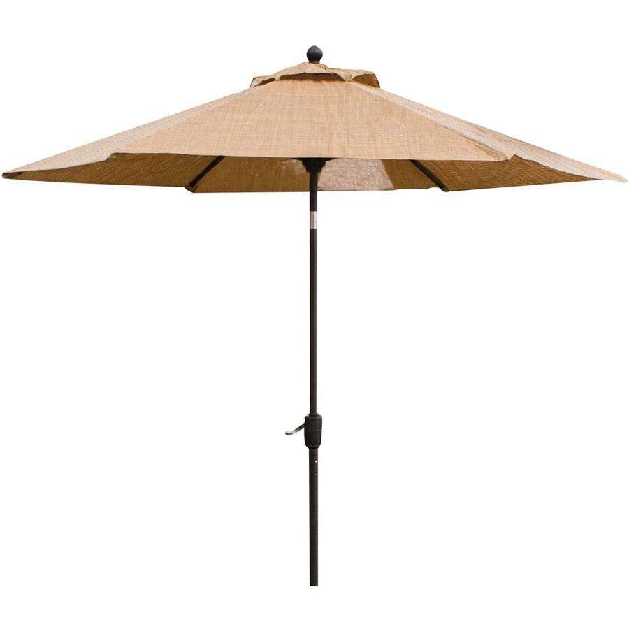 hanover outdoor furniture 9 ft tan no tilt market patio umbrella