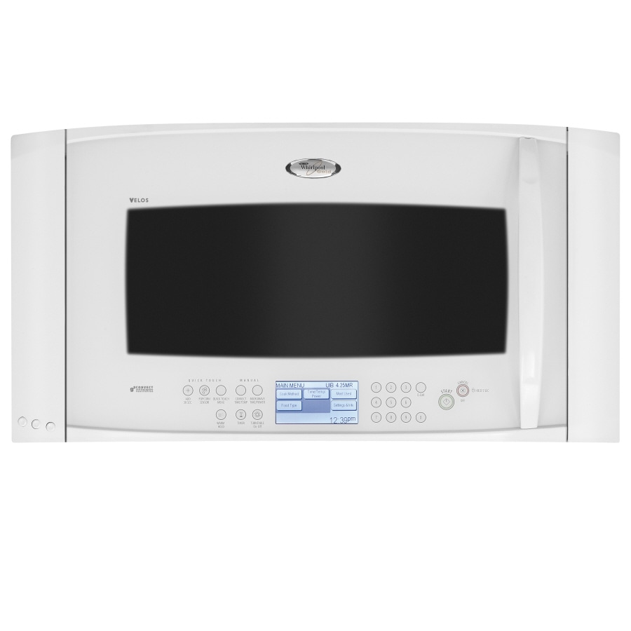 whirlpool gold 2 cu ft over the range convection microwave white