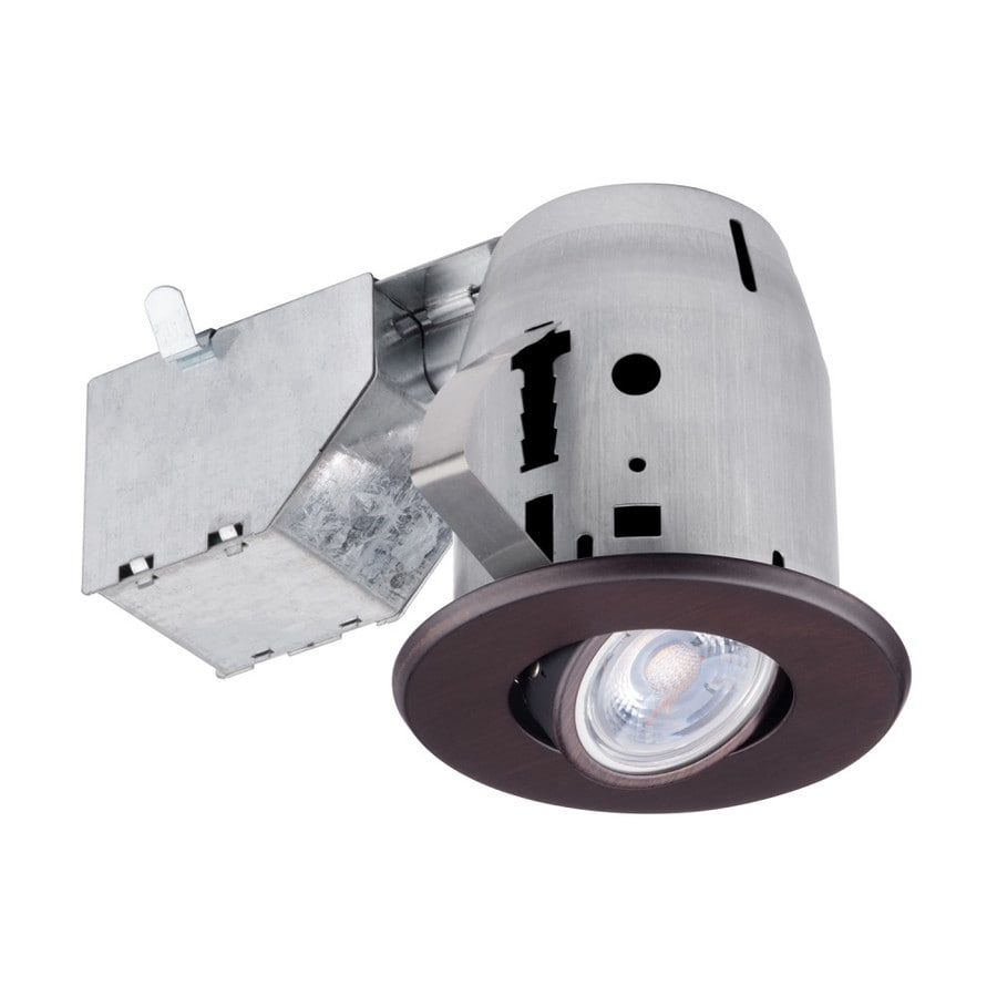 globe electric recessed 3 in incandescent led remodel and new construction oil rubbed bronze ic gimbal recessed light kit