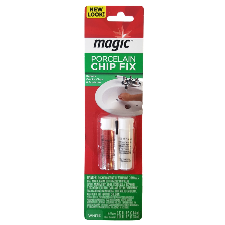 magic 0 17 oz white tub and tile chip repair kit lowes com