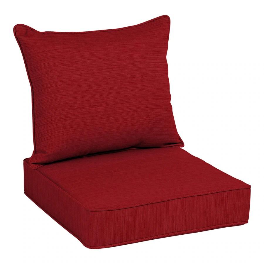 allen roth 2 piece cherry red deep seat patio chair cushion