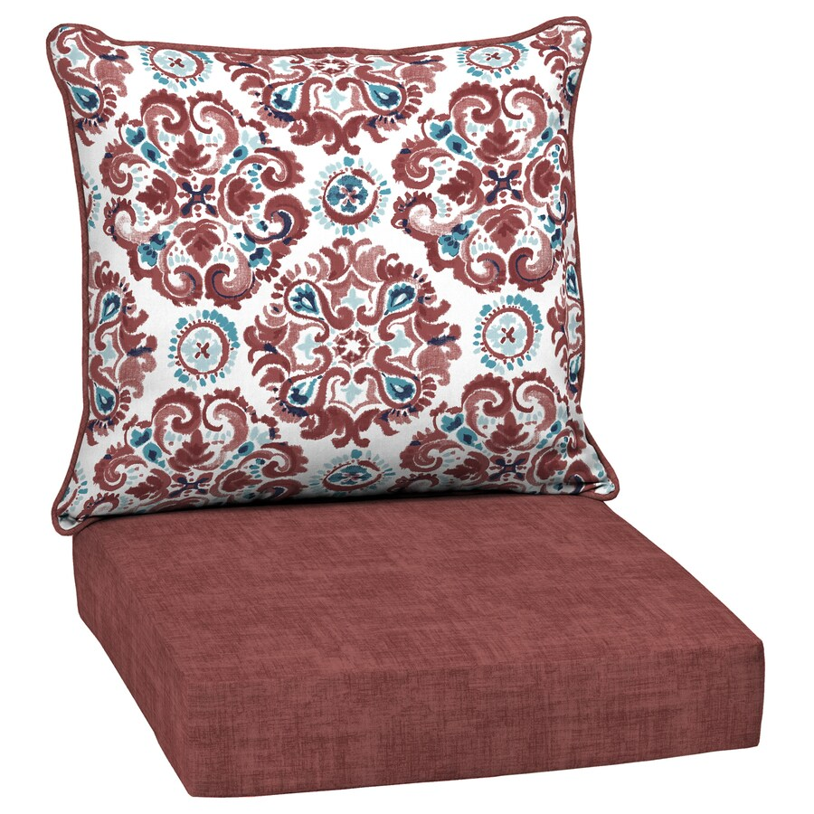 style selections 2 piece cambrian deep seat patio chair cushion