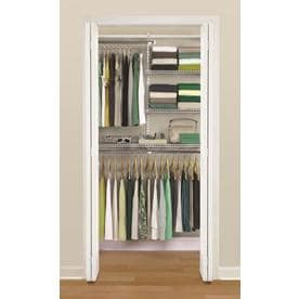 Shop Wire Closet Kits at Lowes com Rubbermaid HomeFree Series 3 ft to 6 ft Adjustable Mount Wire Shelving Kits