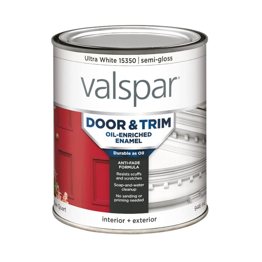 shop valspar door and trim ultra white semi gloss oil on valspar paint id=68136