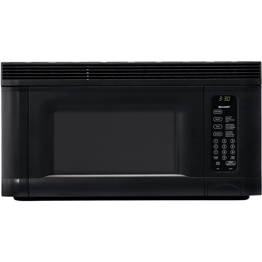 sharp 1 4 cu ft over the range microwave black common 30 in actual 30 in