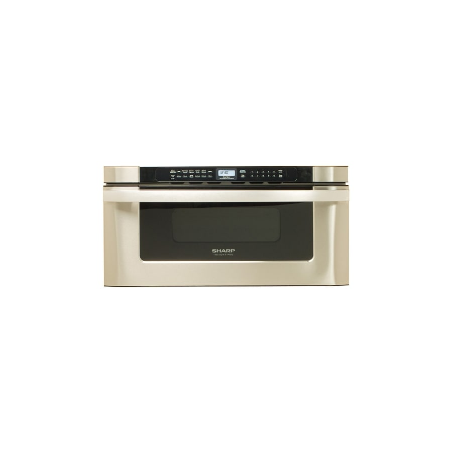 sharp 1 2 cu ft microwave drawer stainless steel common 30 in actual 30 in