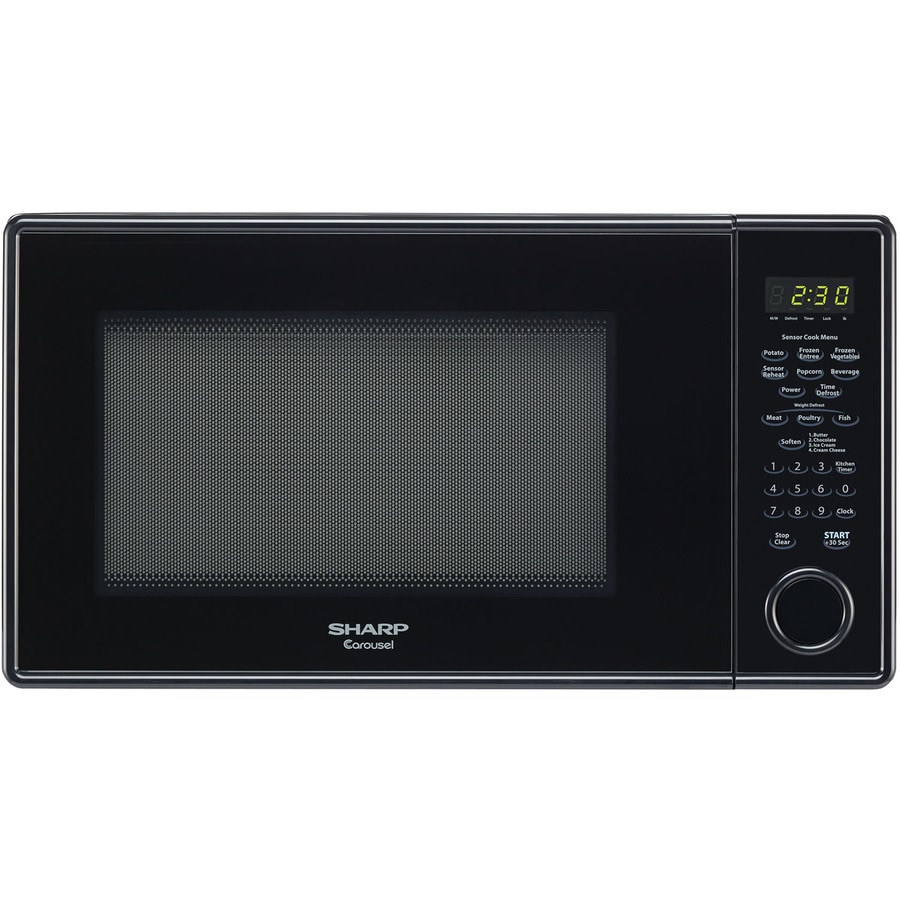 sharp carousel 1 3 cu ft 1000 watt countertop microwave black