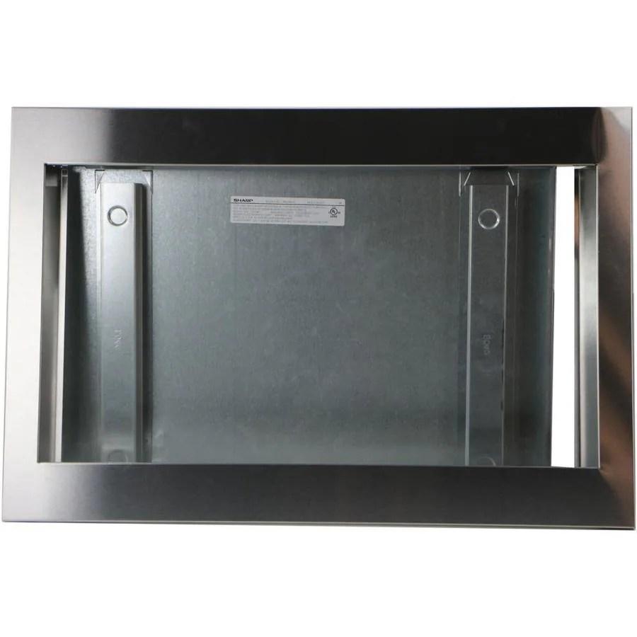 sharp built in microwave trim kit