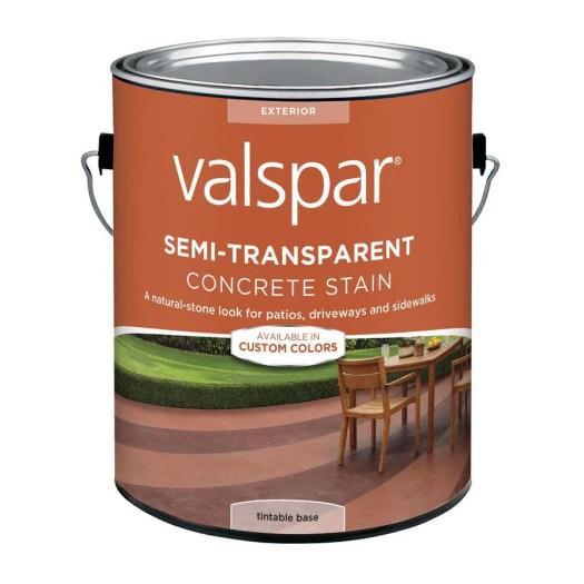 Valspar Tintable Base Semi Transpa Concrete Stain And Sealer 124 Fl Oz