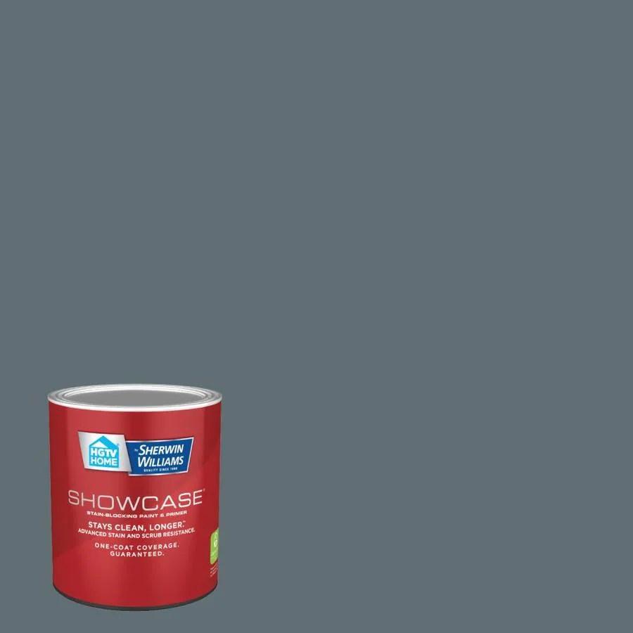 hgtv home by sherwin williams showcase satin slate tile hgsw1472 interior paint 1 quart