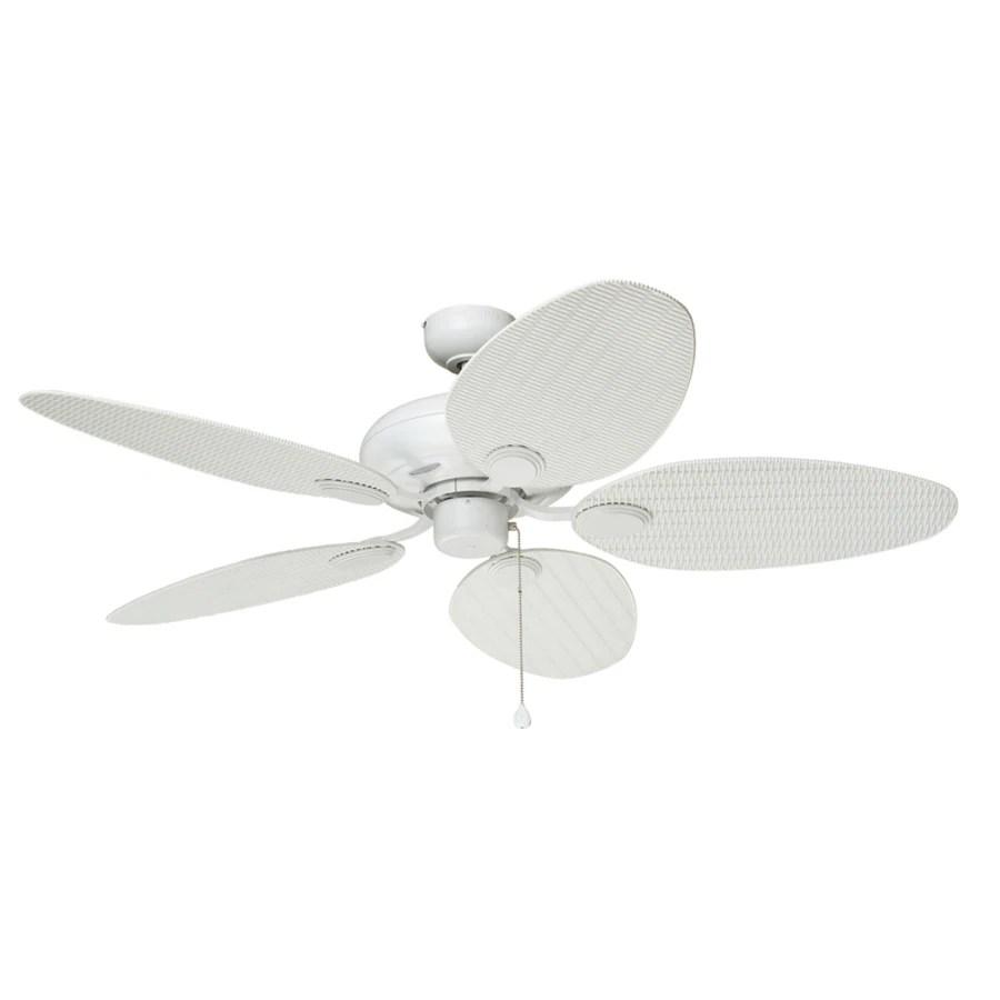 harbor breeze tilghman 52 in matte white indoor outdoor ceiling fan 5 blade