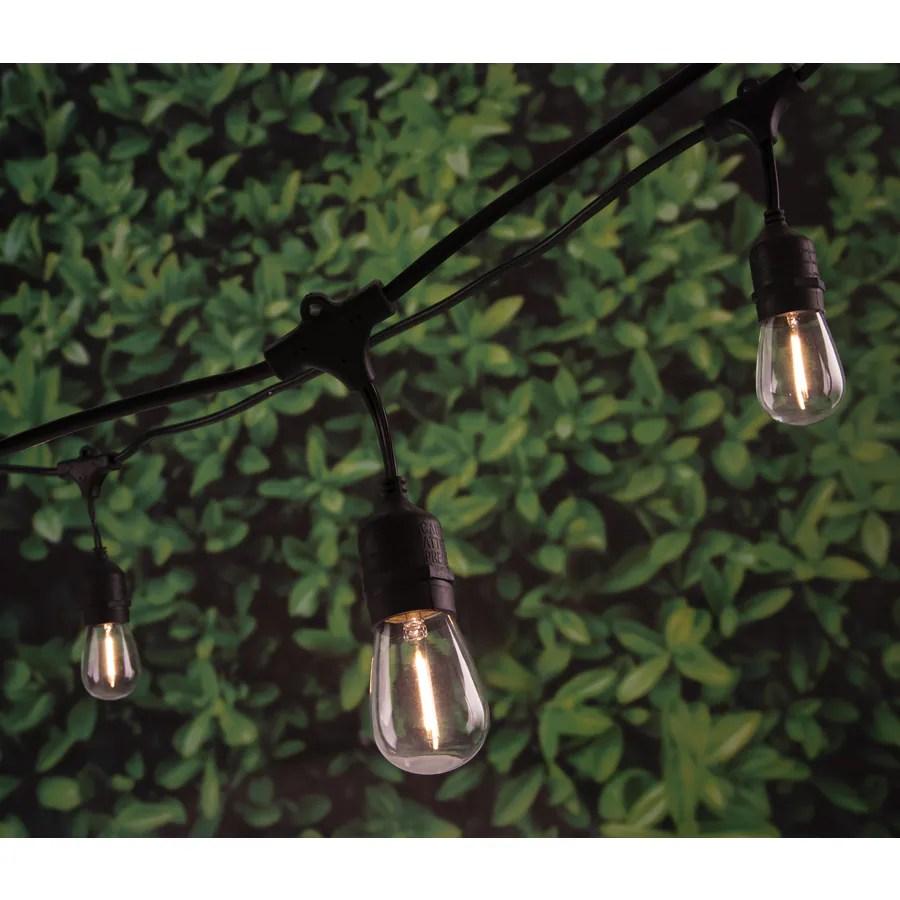 portfolio 24 ft 12 light plug in white led string lights lowes com