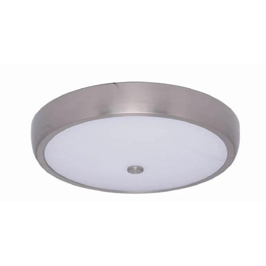 allen roth 12 5 in brushed nickel transitional led flush mount light