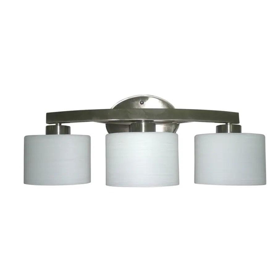 allen roth merington 3 light nickel transitional vanity light bar