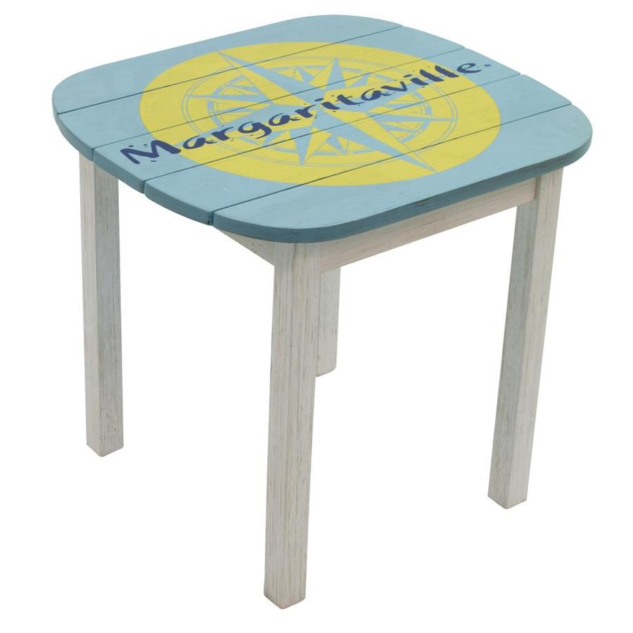 rio brands margaritaville square outdoor end table 22 in w x 22 in l with