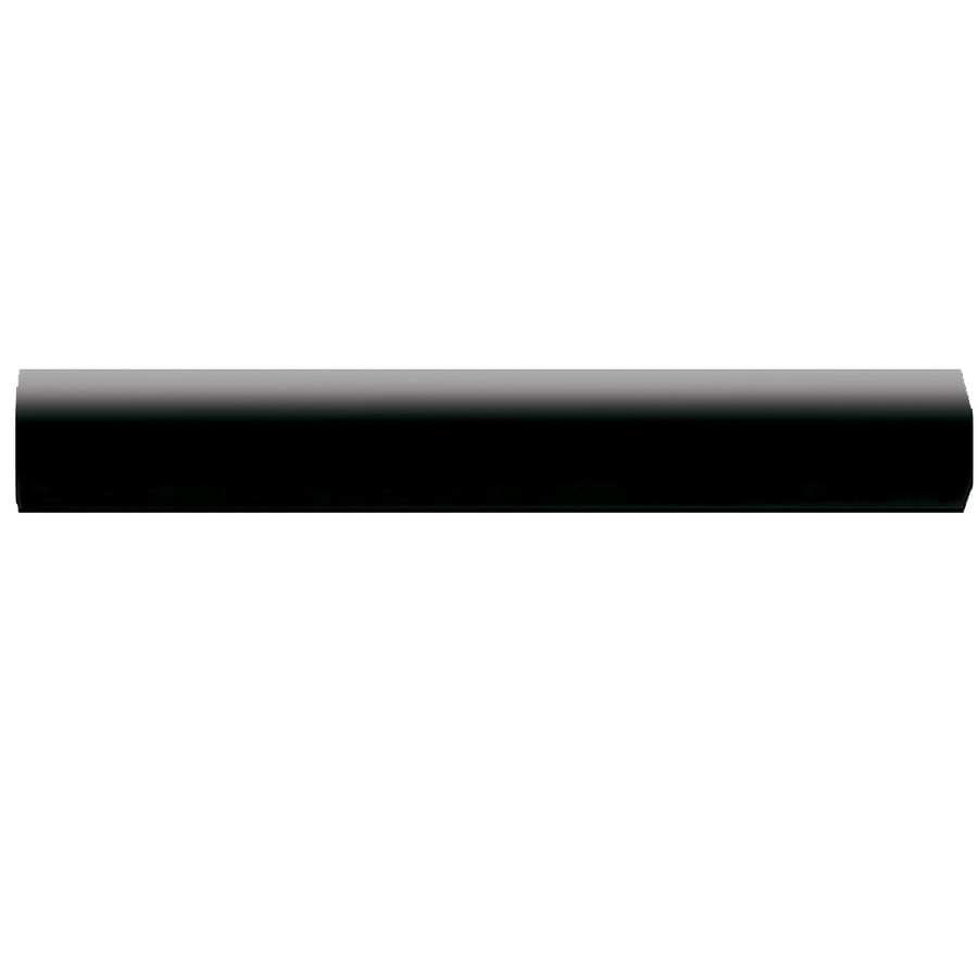 american olean bright gloss black ceramic quarter round tile 1 in x 6 in