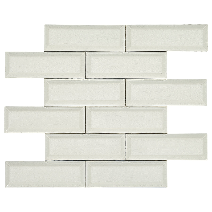 american olean union view shell white 11 in x 13 in glazed porcelain brick wall tile lowes com