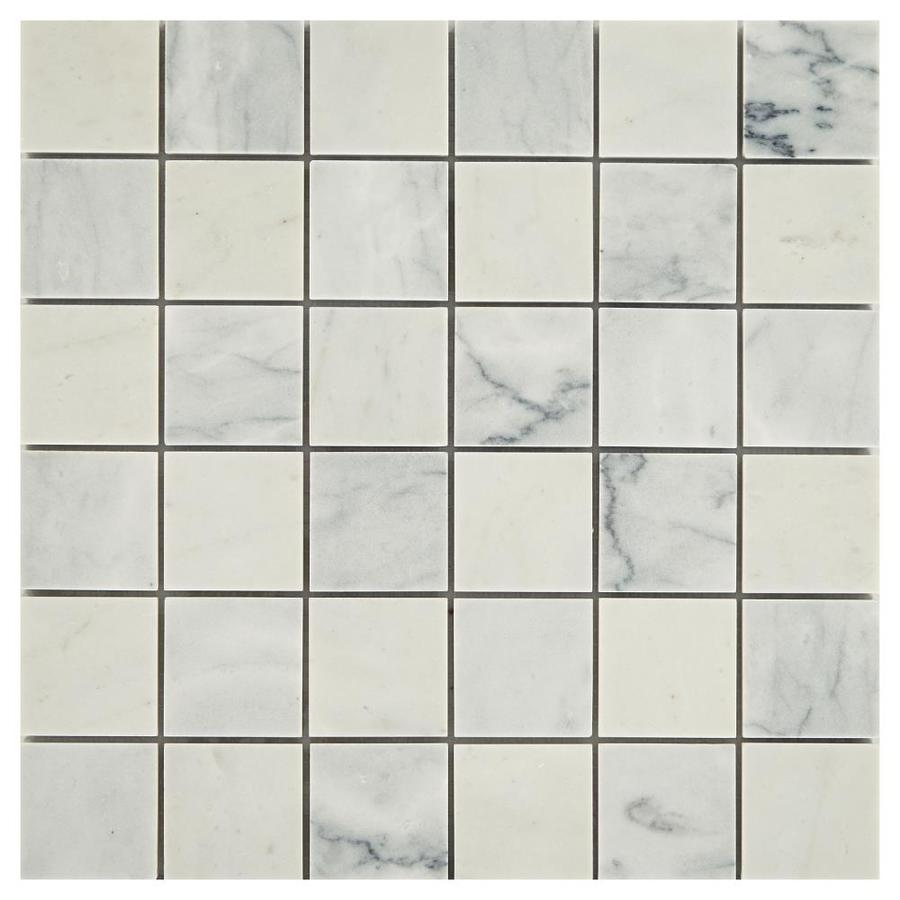 american olean genuine stone refined white 11 in x 11 in honed natural stone marble uniform squares marble look floor and wall tile