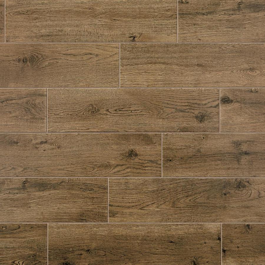 mohawk foreverstyle oak wood 6 in x 24 in matte porcelain wood look floor tile lowes com