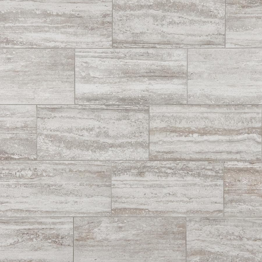 mohawk foreverstyle cream travertine 12 in x 24 in lappato porcelain stone look floor tile