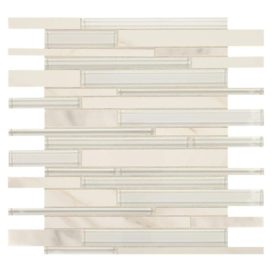 american olean delfino simply white 12 in x 13 in glossy glass marble random wall tile