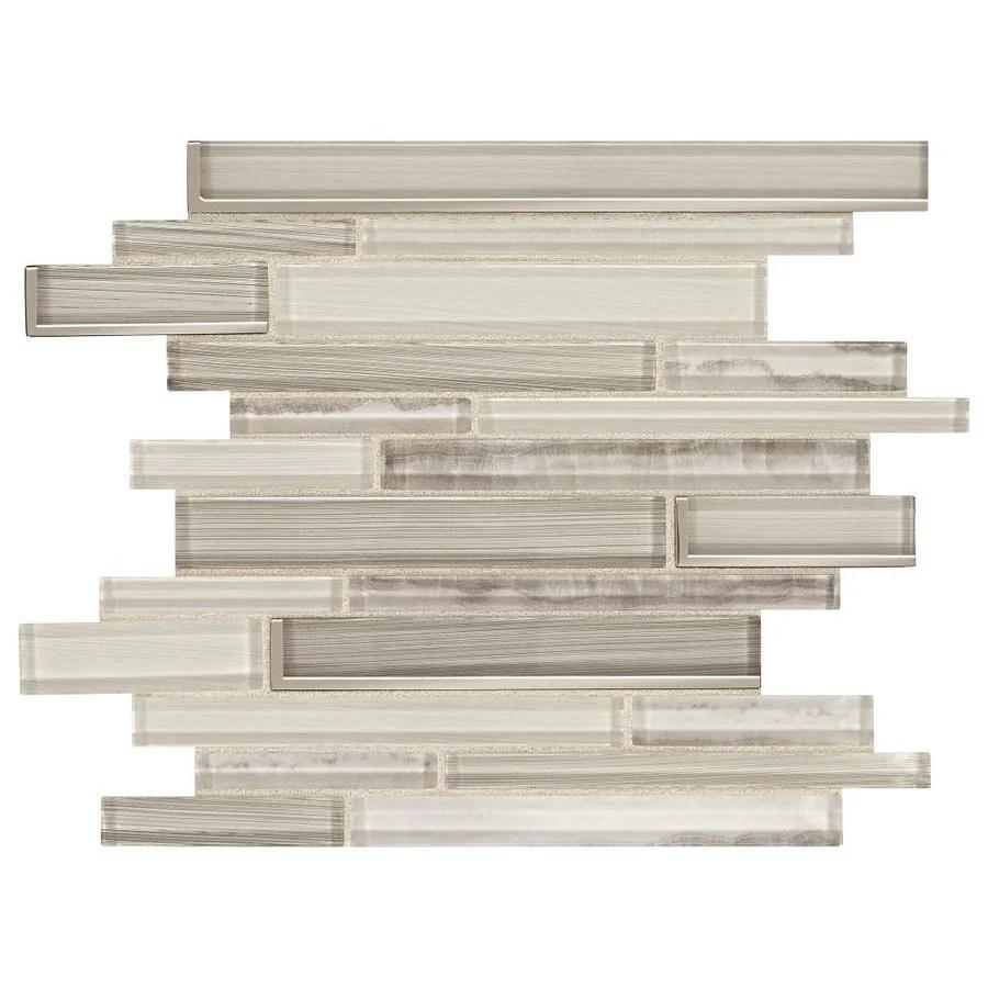 american olean delfino glisten white 11 in x 11 in glossy glass random wall tile