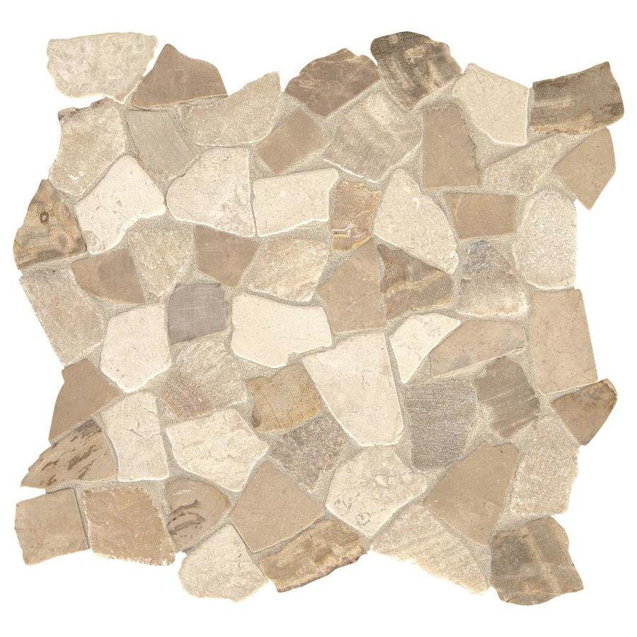american olean delfino stone sumatran earth blend 12 in x 12 in unglazed natural stone pebble stone look floor tile