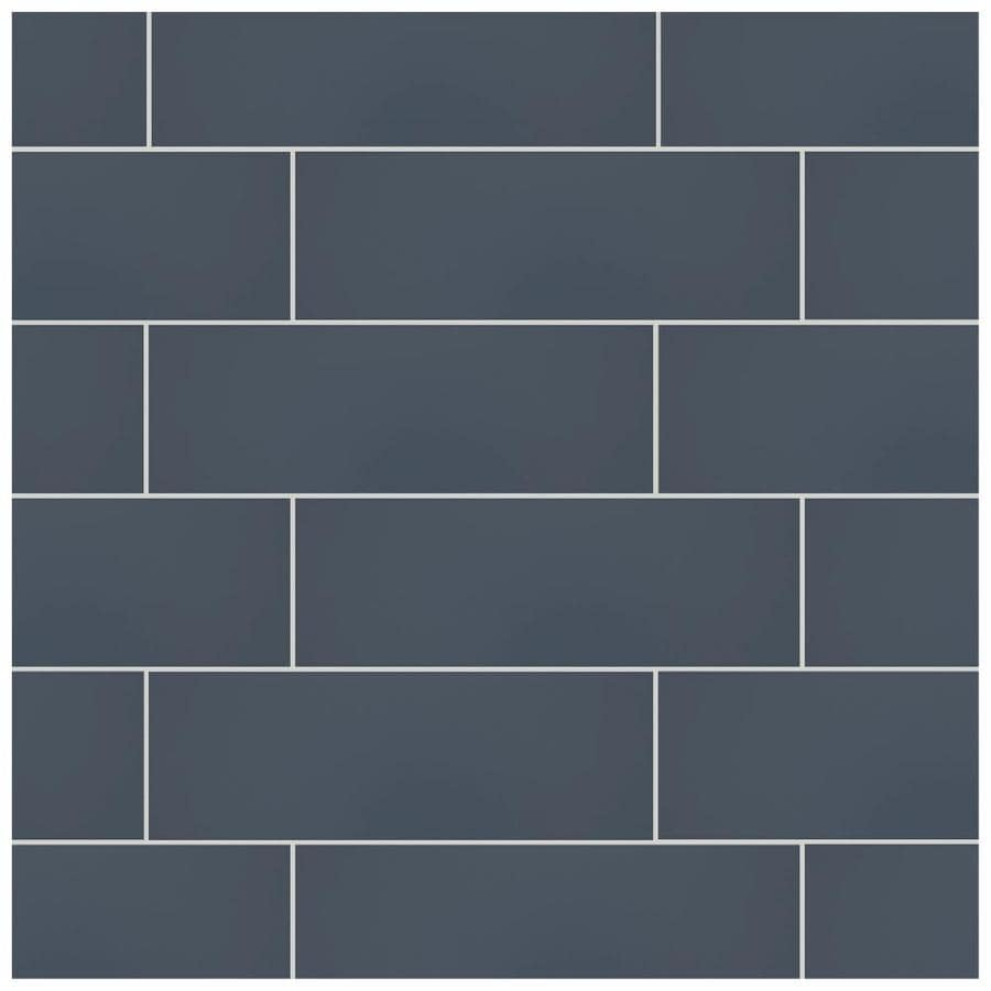 american olean vitascape midnight satin 4 in x 12 in satin ceramic subway wall tile