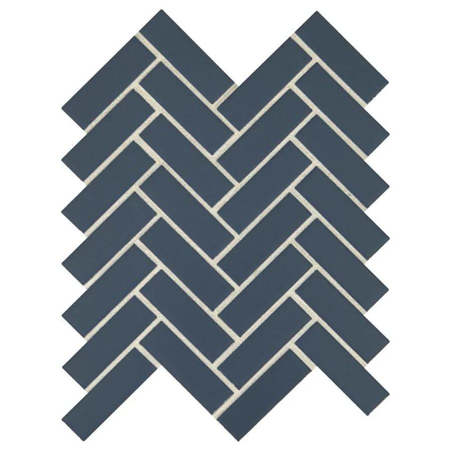 american olean vitascape midnight satin 9 in x 12 in satin ceramic herringbone floor and wall tile