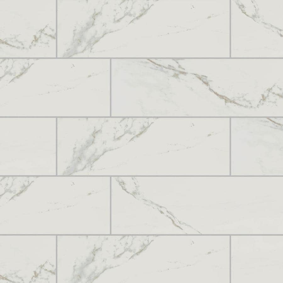 american olean marble manor calacatta 6 in x 18 in glossy ceramic marble look wall tile
