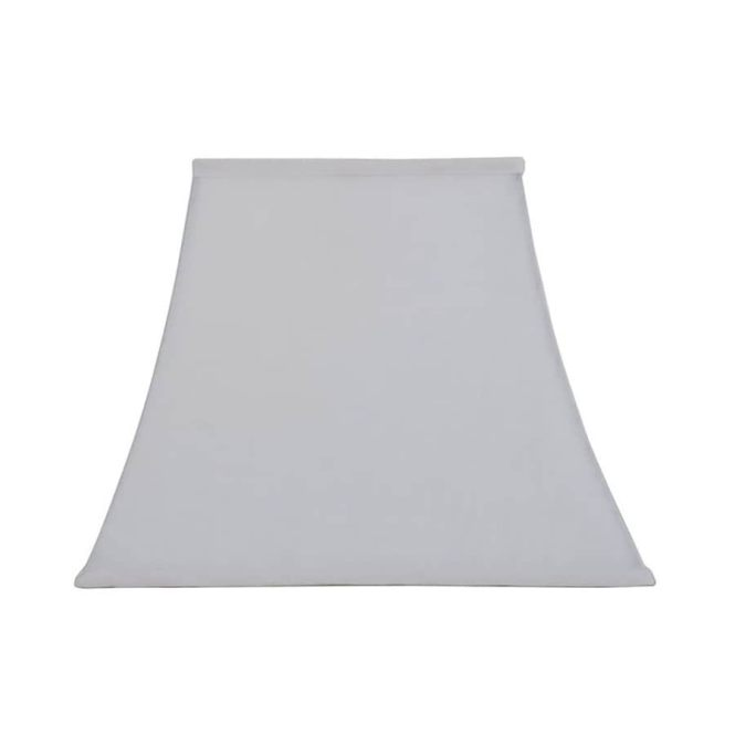 Allen Roth 12 In X 15 White Linen Fabric Square Lamp Shade