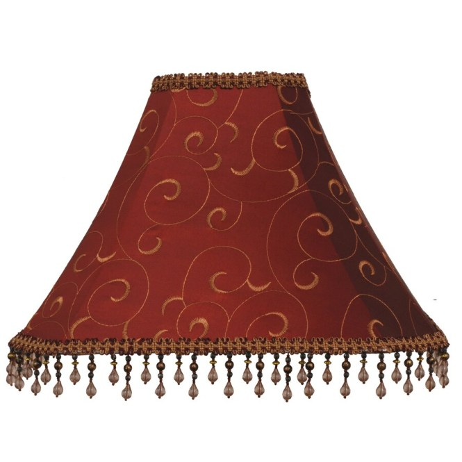 Allen Roth 12 In X 16 Red Fabric Bell Lamp Shade