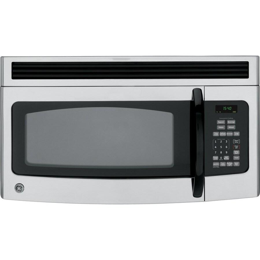 ge 1 5 cu ft over the range microwave cleansteel