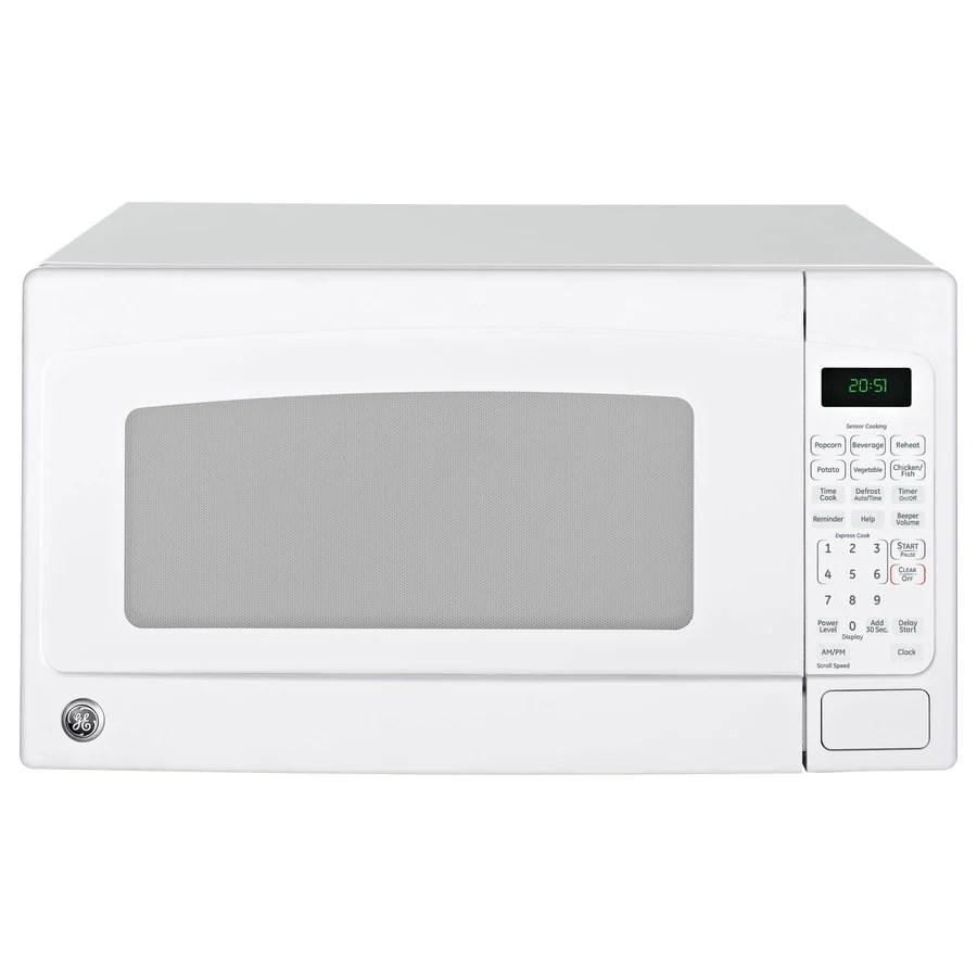 ge 2 cu ft 1200 watt countertop microwave white