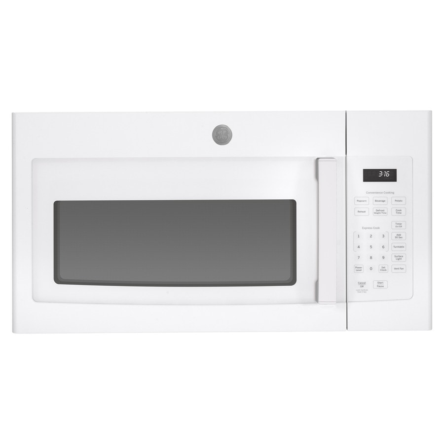 ge 1 6 cu ft over the range microwave white lowes com