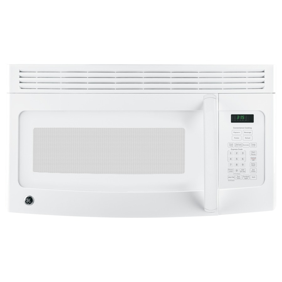ge 1 5 cu ft over the range microwave white common 30 in actual 29 87 in