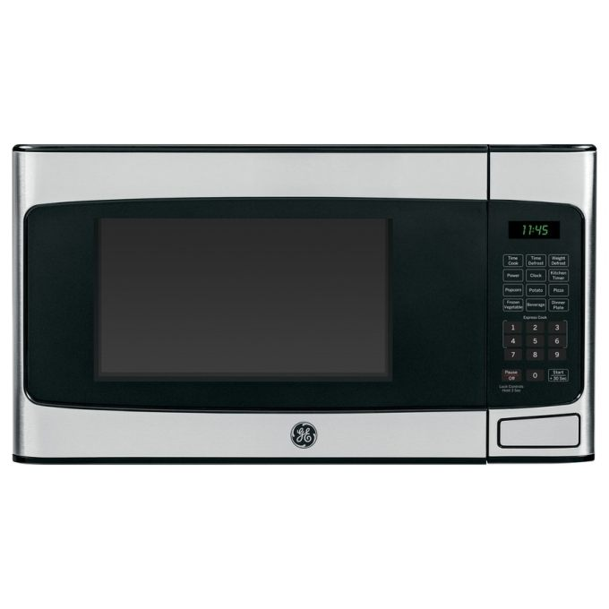 GE 1.1-cu ft 950-Watt Countertop Microwave (Stainless Steel)